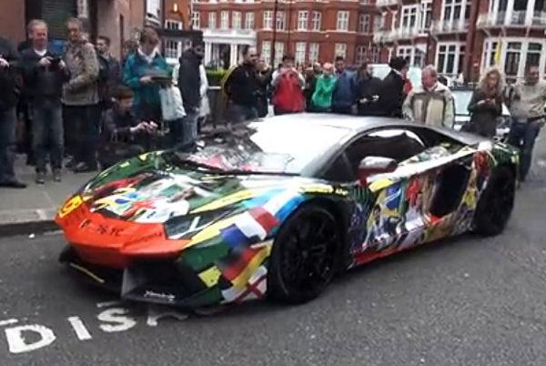 汽车图片 趣图 世界杯主题涂装 兰博基尼aventador